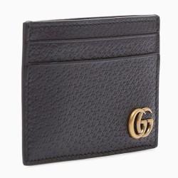 AAA+ black wallet Black cowhide GG men's fashion card bag #9125580