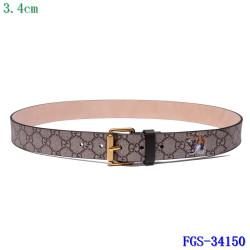 Men's  AAA+ Leather Belts 3.5cm #9124223