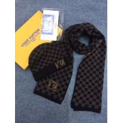 Brand L Wool knitted Scarf and cap 185*35cm #9108736