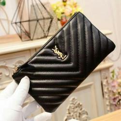 YSL AAA black Wallets 19cm #9109457