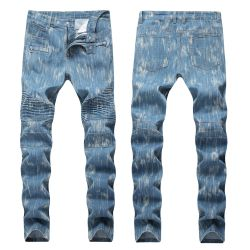 BALMAIN Men's pleated jeans for cheap #9120587
