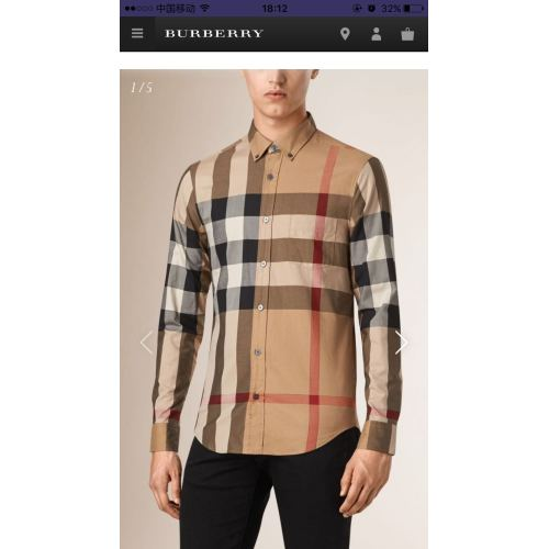 Bub*ry AAA+ Long-Sleeved Shirts for men #817280