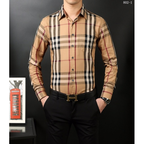 Bub*ry AAA+ Long-Sleeved Shirts for men #818102