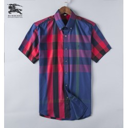 Burberry Shirts for Men's Burberry Shorts-Sleeved Shirts #999493