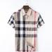 Men's Burberry Shorts-Sleeved Shirts #857960