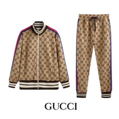 Gucci Tracksuits for Men's long tracksuits beige #9125896