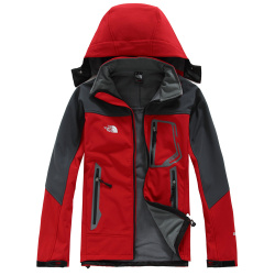 Classic BRAND the n face MEN's oudoor hooded Polartec softshell norTh Jacket Male Sports Windproof Waterproof Breathable winter face Coats 170 #9109660