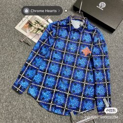 Chrome Hearts Shirts for Chrome Hearts Long-Sleeved Shirts for men #99909073