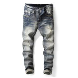 Fashion retro micro elastic jeans men's small straight tube slim men's trousers #9120595