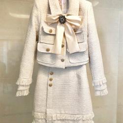 Ch*nl Horse clip shirt half-length skirt Women's Tracksuits #9126230
