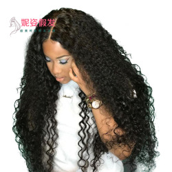 European and American wigs women's front lace chemical fiber small roll long curly hair wig set factory spot 24 inch LS-209-24  #9116425