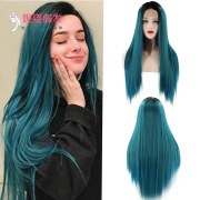 New European and American Wigs Women's Front Lace Chemical Fiber Long Straight Hair Wig Manufacturers Spot Wholesale 26 inches #99909717