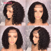 New product explosions Europe and America wigs women's front lace chemical fiber short curly hair wig set factory spot wholesale LS-133 #9117089