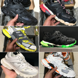 Balenciaga  2020 New 3M Triple S Track 3.0 Running Shoes Release 3 Tess Gomma Maille Jogging Balenciaga Shoes Sport Sneaker  #99897786