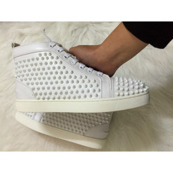 Fashion Designer Brand Studded Spikes Flats shoes Red Bottom Shoes For Men and Women Party Lovers Genuine Leather Sneakers #9102074