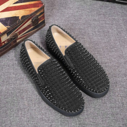 Christian Louboutin Shoes for Men's CL black Sneakers #9106348