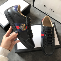 Men's Gucci original top quality Sneakers tiger black shoes #9102064