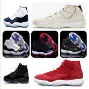 11s Platinum Tint Concord 45 Mens Basketball Shoes 11 Cap and Gown Blackout Stingray Gym Red Midnight Navy Bred Space Jams Sports Sneakers #9115663