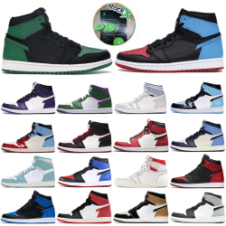 Jordan Jumpman 1s Men Jordan Basketball Shoes incredible Hulk Obsidian UNC Designer mens trainers 1 High pine green black bloodline Banned Sport Sneakers #99896749