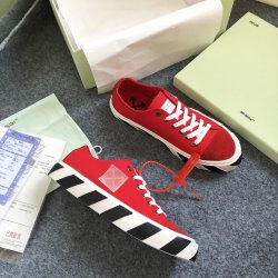OFF WHITE plimsolls canvas shoes for Men's Women's Sneakers red #99901041