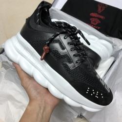 Men's Ve*sace Sneakers 18FW black elevator shoes #9109434