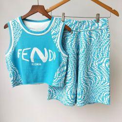 Brand FENDI new 2021 tracksuit for women #99911648