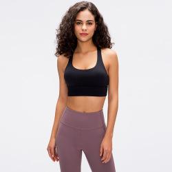 2021 spring and summer classic cross beauty back yoga bra shockproof sports underwear women #99910186