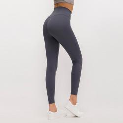Merillat autumn new no embarrassment line high waist buttocks elastic sports nude yoga pants women #99910188